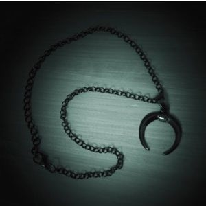 Crescent Black Moon Necklace